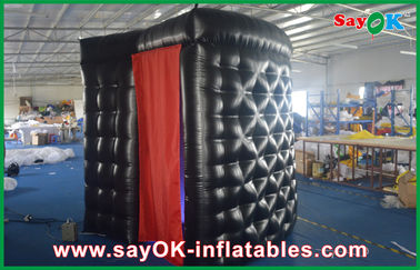 Black PVC Coating Inflatable Photo Booth Stage Decoration Customized