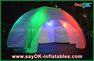 5 Legs LED Lighting Inflatable Spider Inflatable Dome Tent With CE / UL Blower