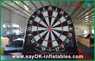 Black Inflatable Sports Games / Customized PVC Inflatable Soccer Dart Board