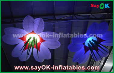 Colorful Hanging Lighting Inflatable Flowers for Festival Decoration