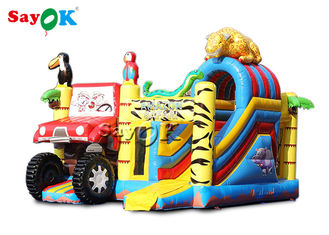 Animals Combo Kids 5.5x5x4.4m Inflatable Bounce House With Slide