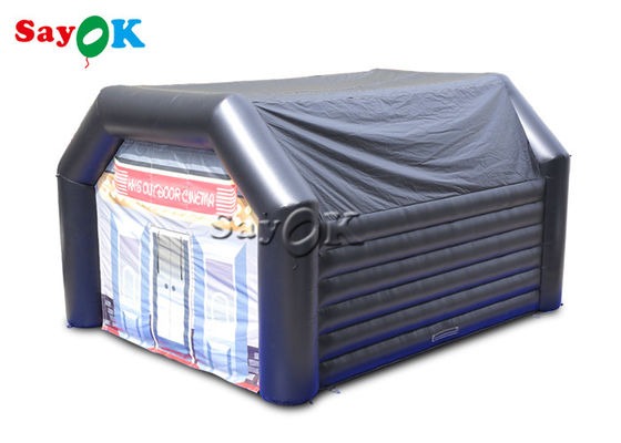 Customized Black 0.4mm PVC Inflatable Dome Tent For Events