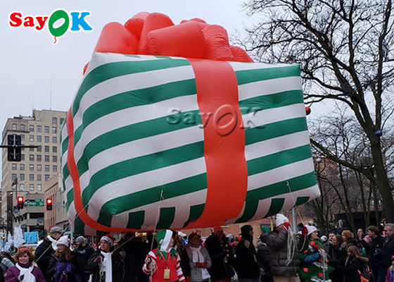 Oxford Cloth Inflatable Christmas Gift Box Helium Parade Balloon