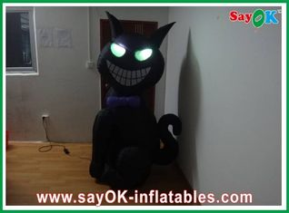 1m - 4m Inflatable Halloween Cat With Led-Lighting Bouncers Rentals