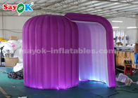 चीन 3*2*2.3m Snail Shape LED Light Inflatable Photo Booth Enclosure फैक्टरी