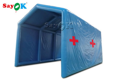 Blue Oxford Cloth Outside Inflatable Decontamination Tent Disinfection Channel Sanitizing Station